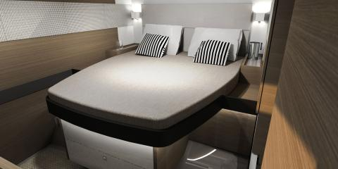 Bedroom of moorings 534pc catamaran
