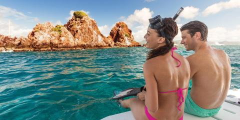 Couple snorkelling in the BVI