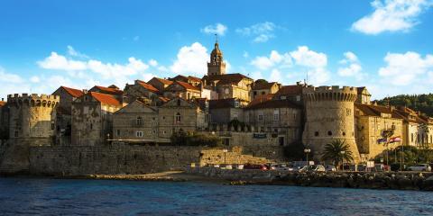 Traditional stone buildings of Croatia