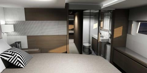 Ensuite of Moorings 534pc catamaran