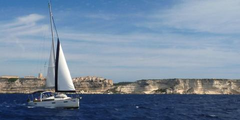 Moorings yacht sailing in Cannigione, Italy