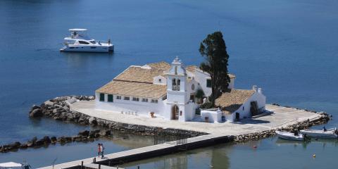 Corfu home on water