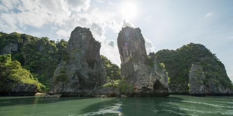 Thailand beach rocks