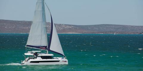 Moorings 4200 under sail