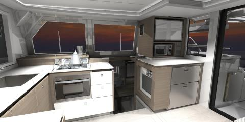 Moorings 4200 Galley