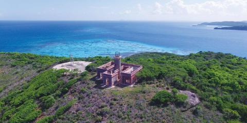 Isla Culebrita lighthouse in Puerto Rico