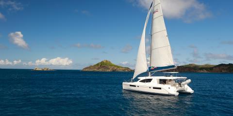 sailing catamaran in St. Martin