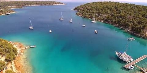 View of Lučice Bay in Croatia