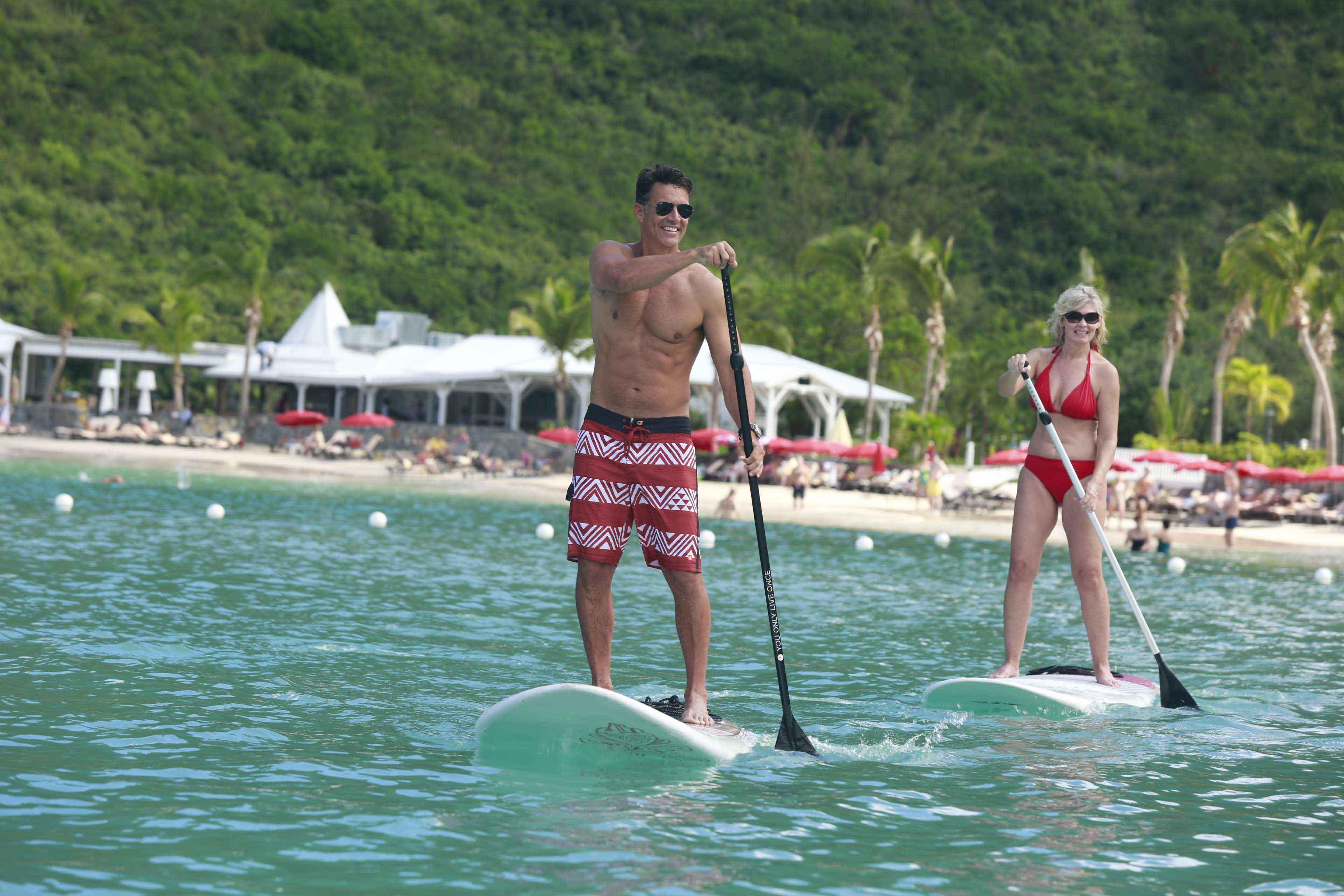 Paddle boarding in St. Martin