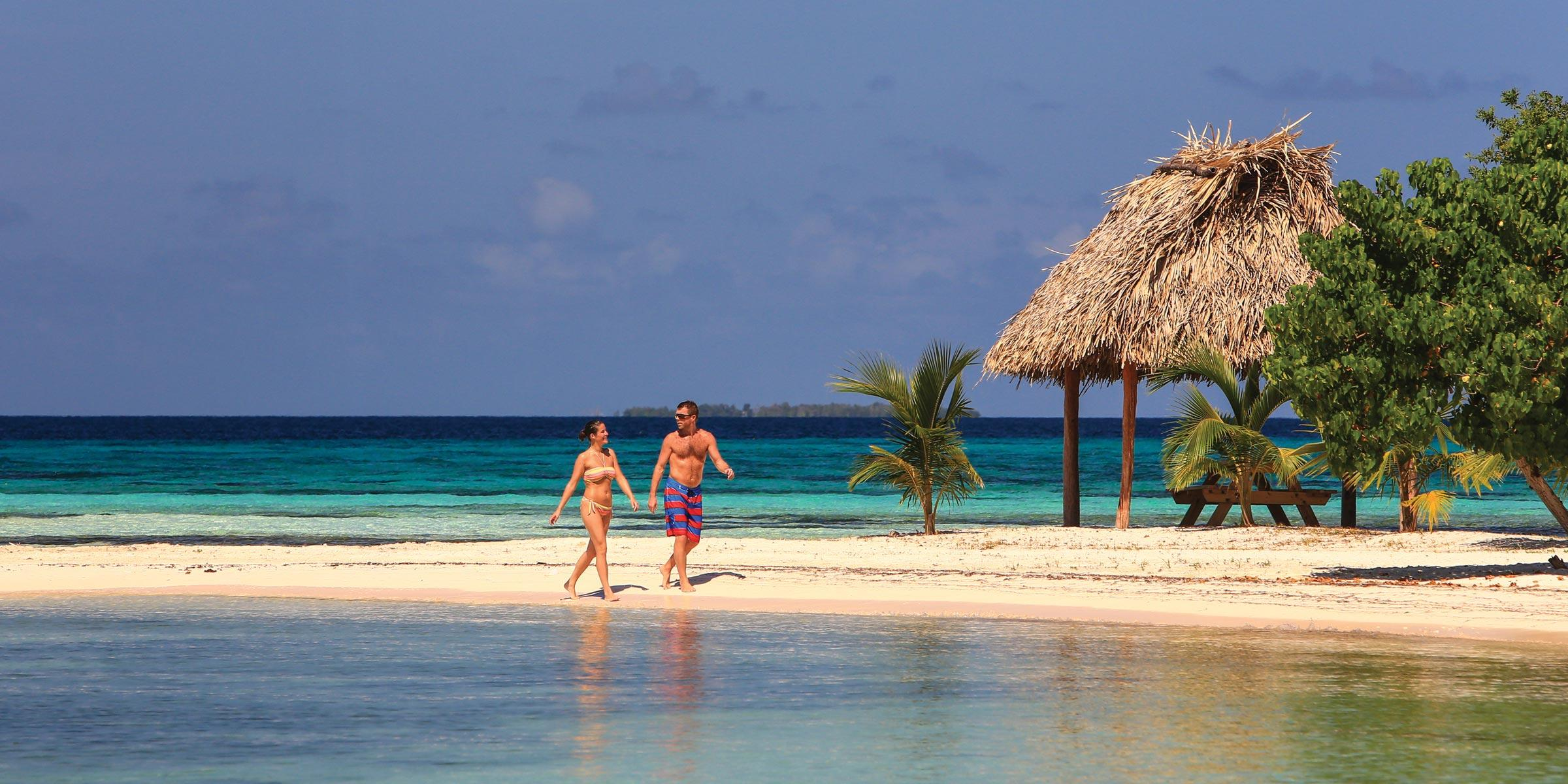 Beach on Moho Cay Belize