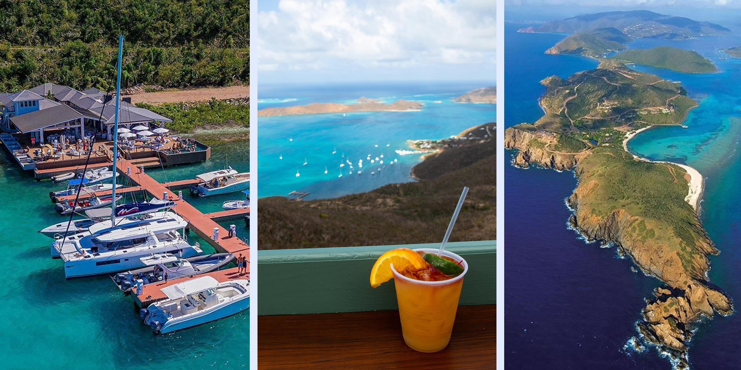 Oil Nut Bay and view from Hog Heaven on Virgin Gorda BVI