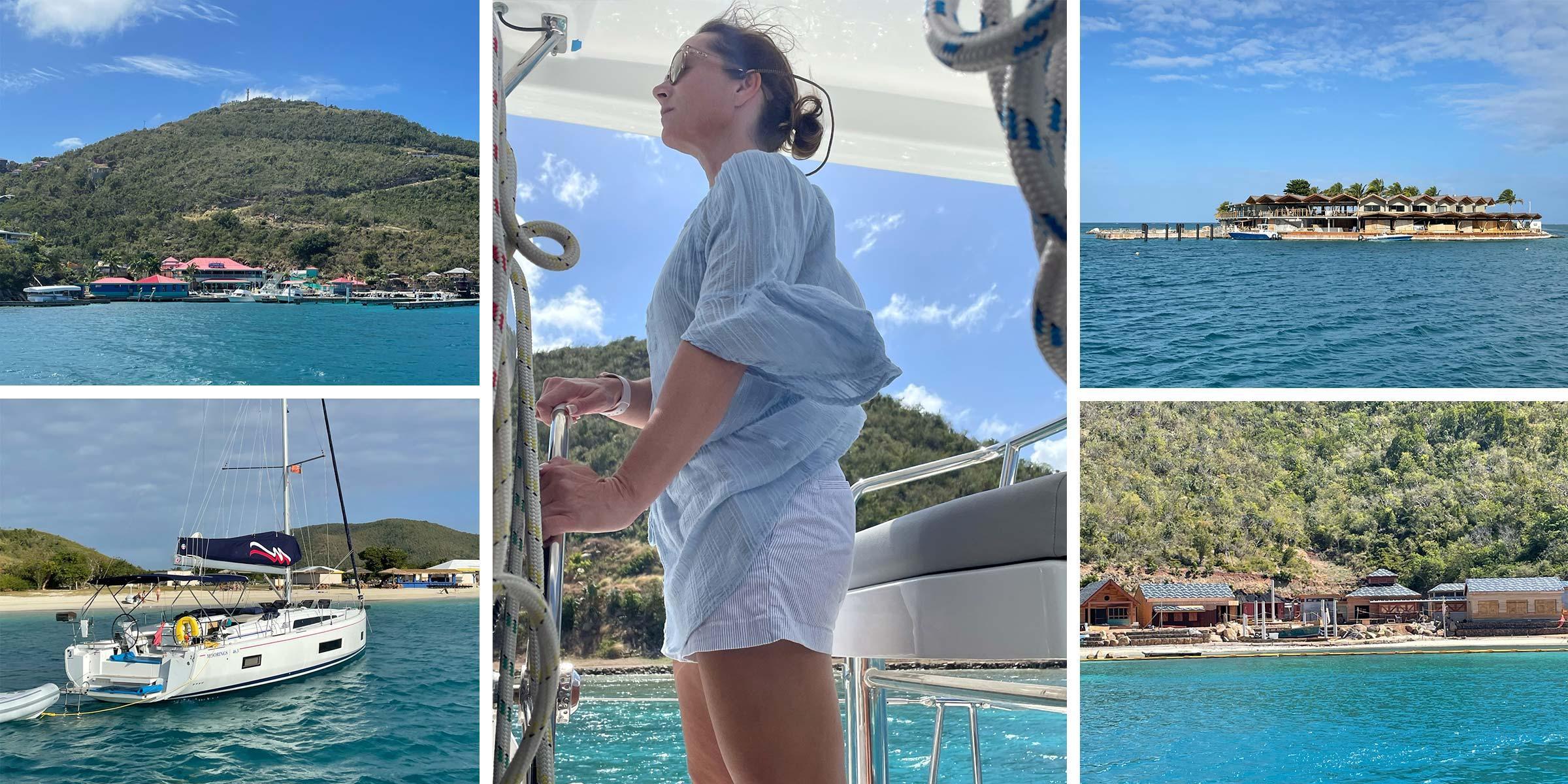 Josie sailing North Sound, Leverick Bay, Saba Rock, Bitter End Yacht Club