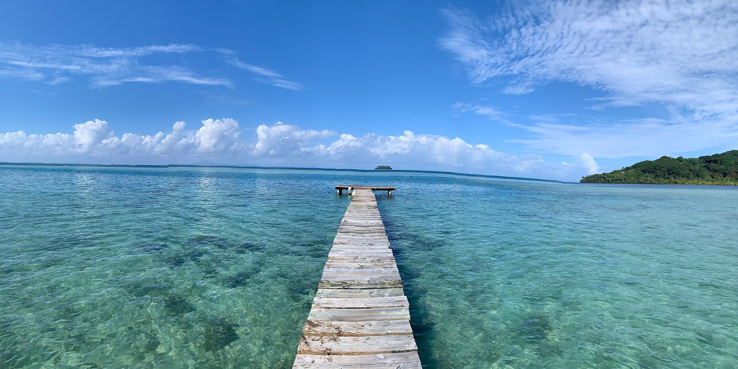 Raiatea Tahiti Wooden Dock
