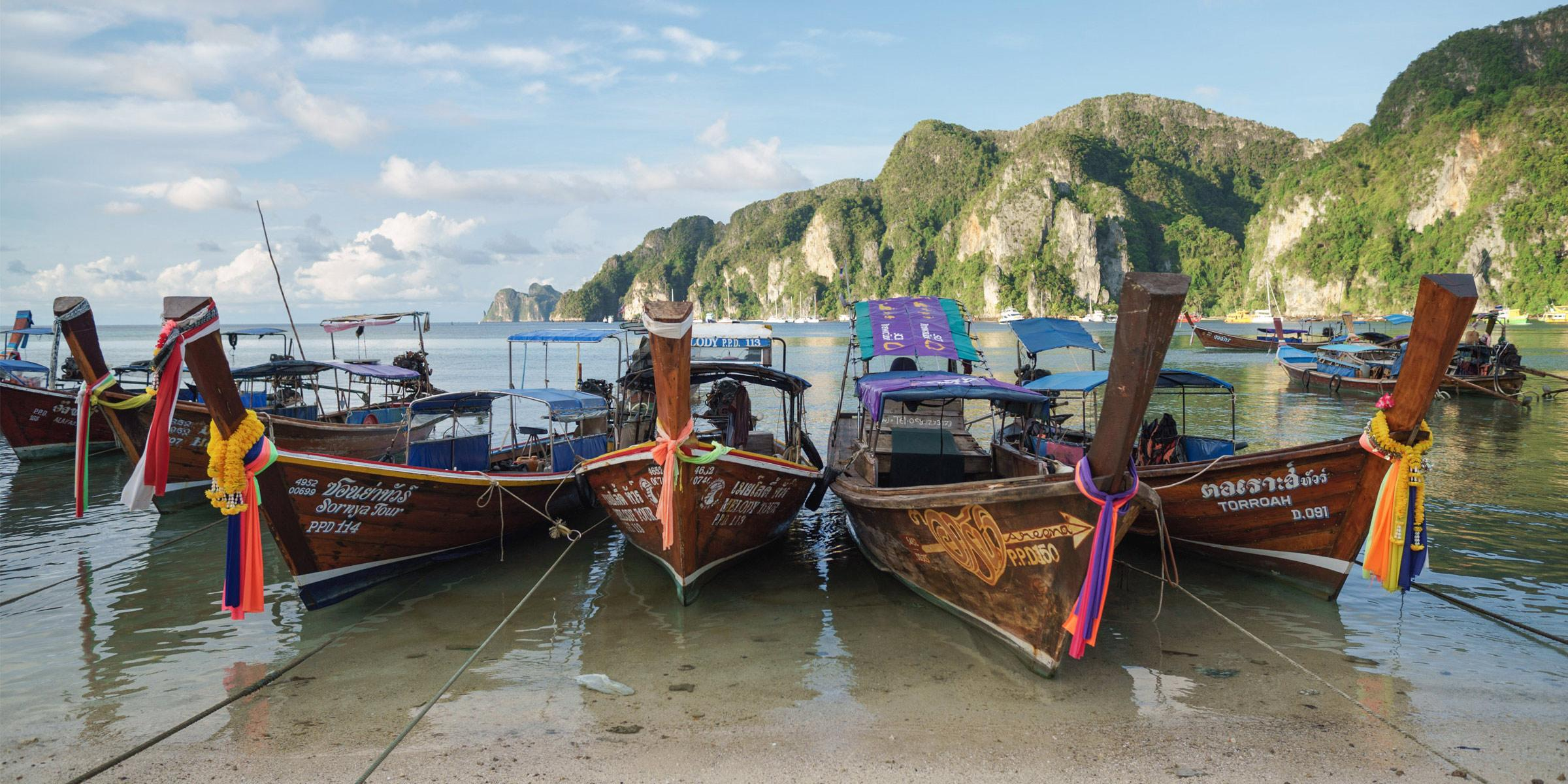 Longtail Boats in Phuket Thailand